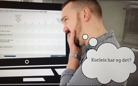 Foto fra infovideo om NORSE(Norwegian Outcome Response System for Evaluation)